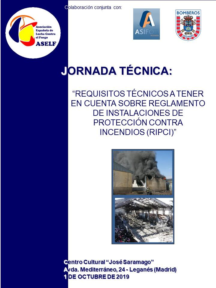 JORNADA REGLAMENTO DE INSTALACIONES DE PROTECCIÓN CONTRA INCENDIOS